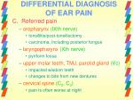 differential diagnosis of ear pain28