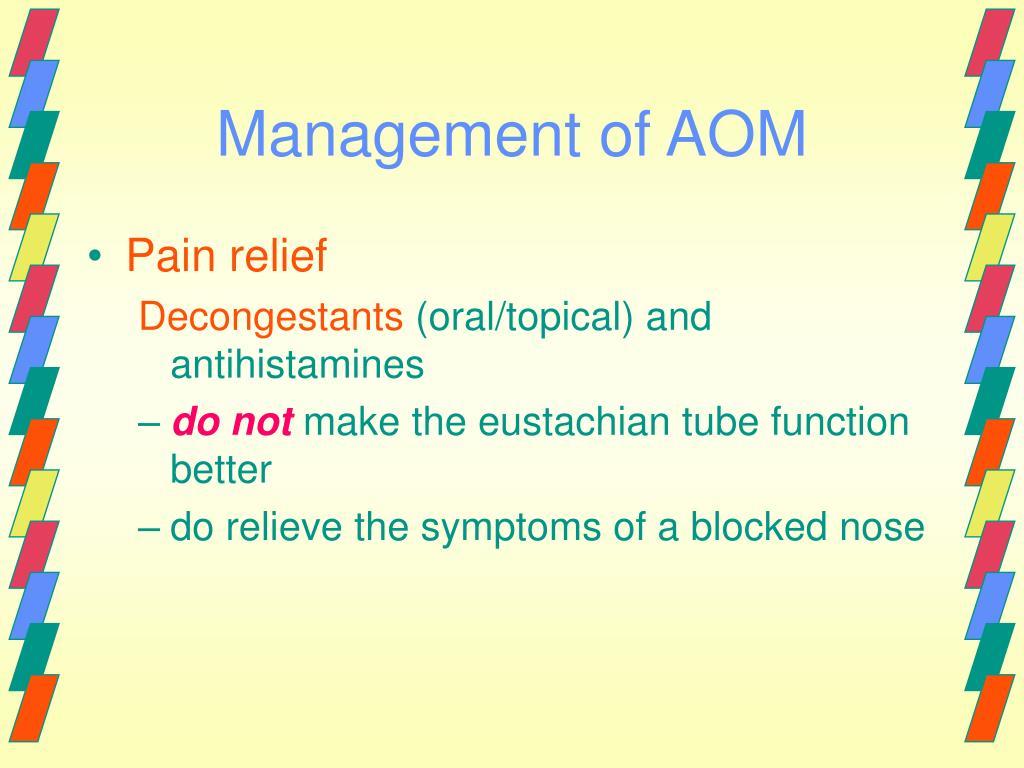 Management of AOM