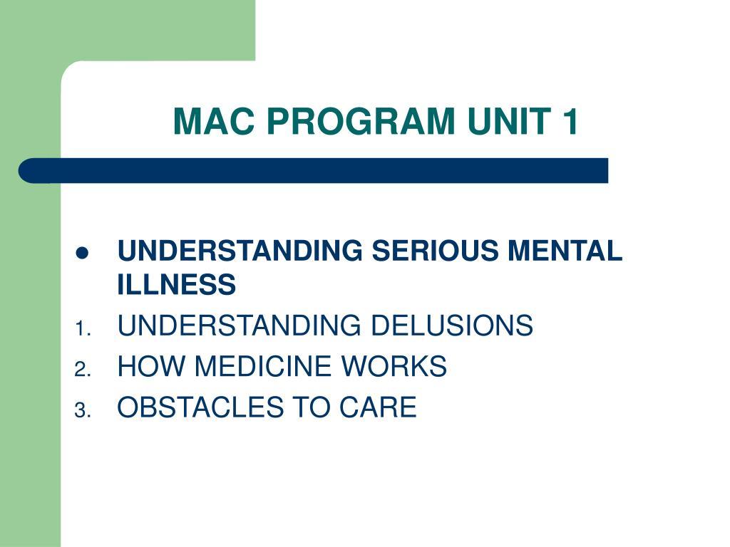 MAC PROGRAM UNIT 1