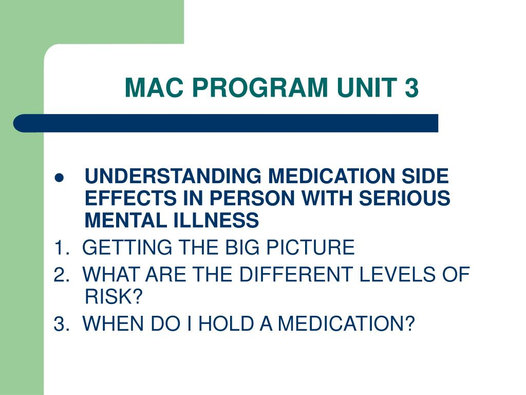 MAC PROGRAM UNIT 3