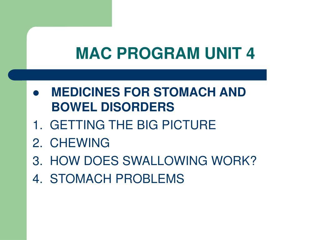 MAC PROGRAM UNIT 4