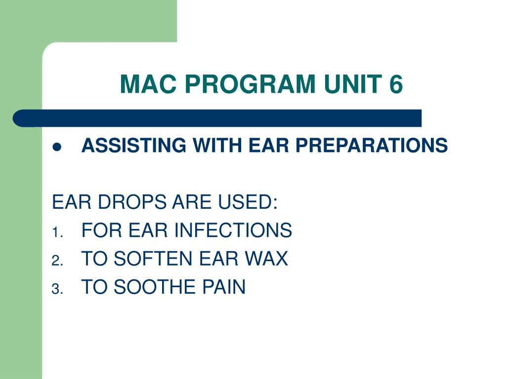 MAC PROGRAM UNIT 6