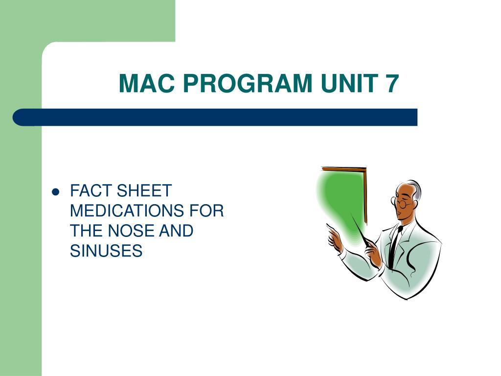 MAC PROGRAM UNIT 7