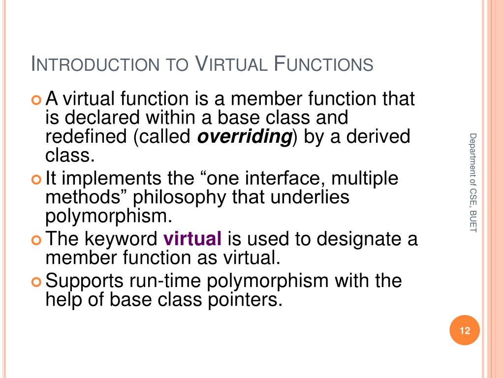 Introduction to Virtual Functions