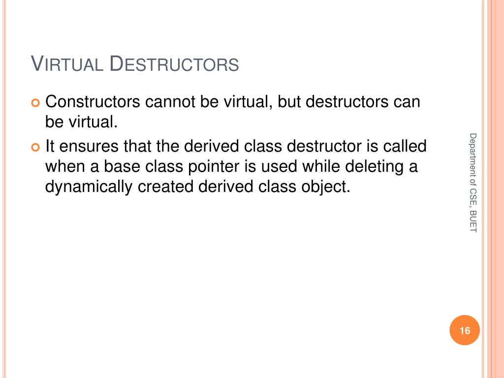 Virtual Destructors
