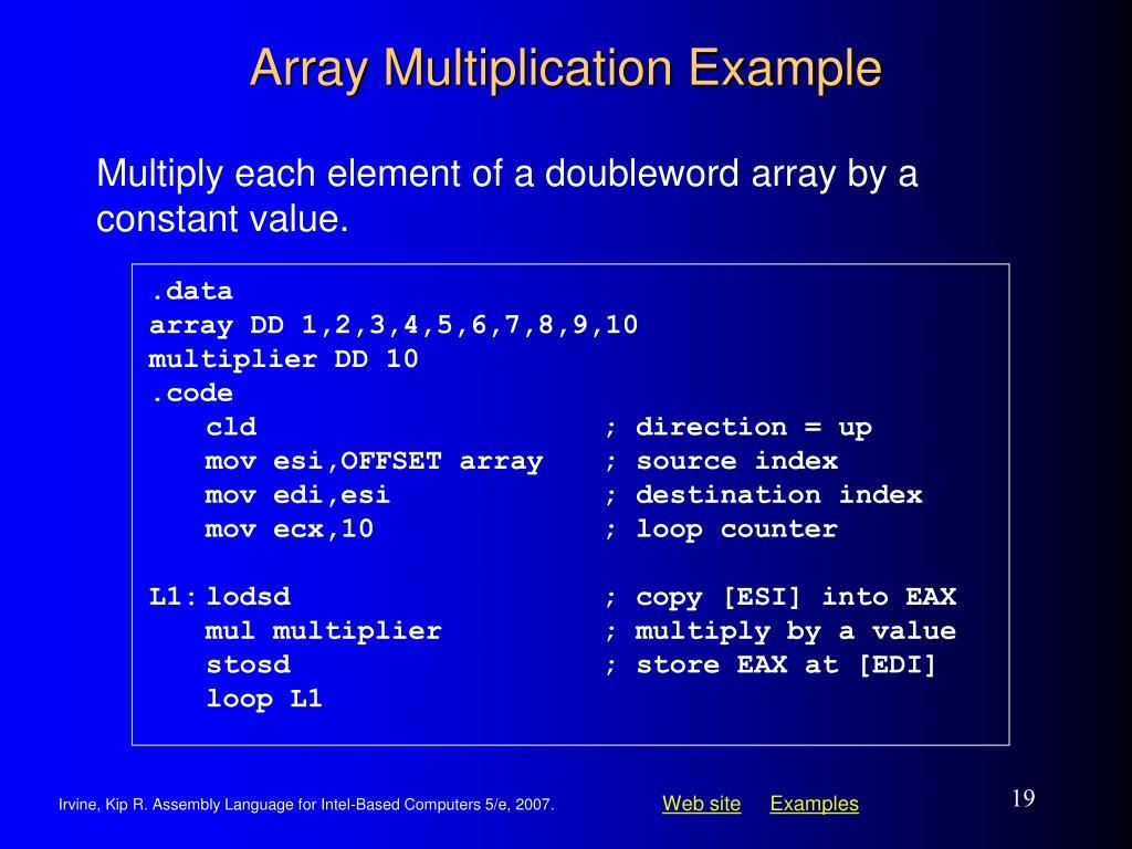 Array Multiplication Example