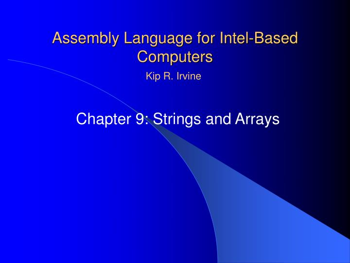 Assembly language for intel based computers