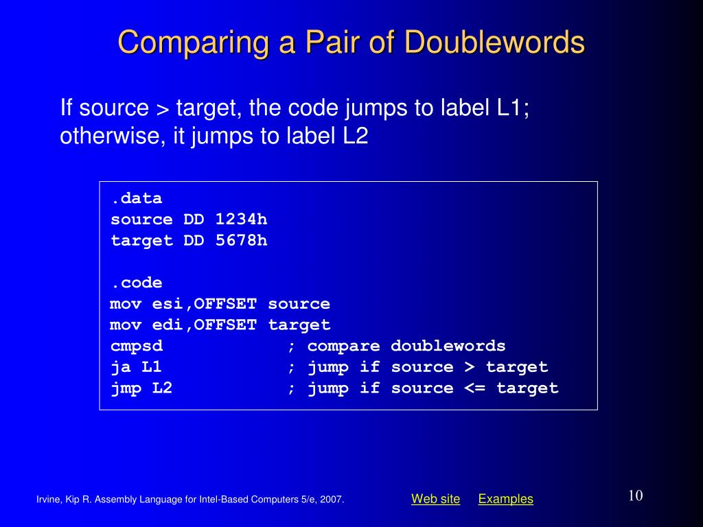 Comparing a Pair of Doublewords