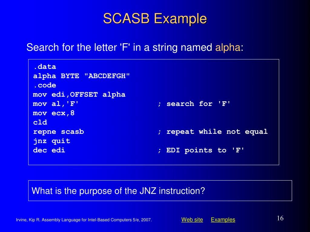 SCASB Example