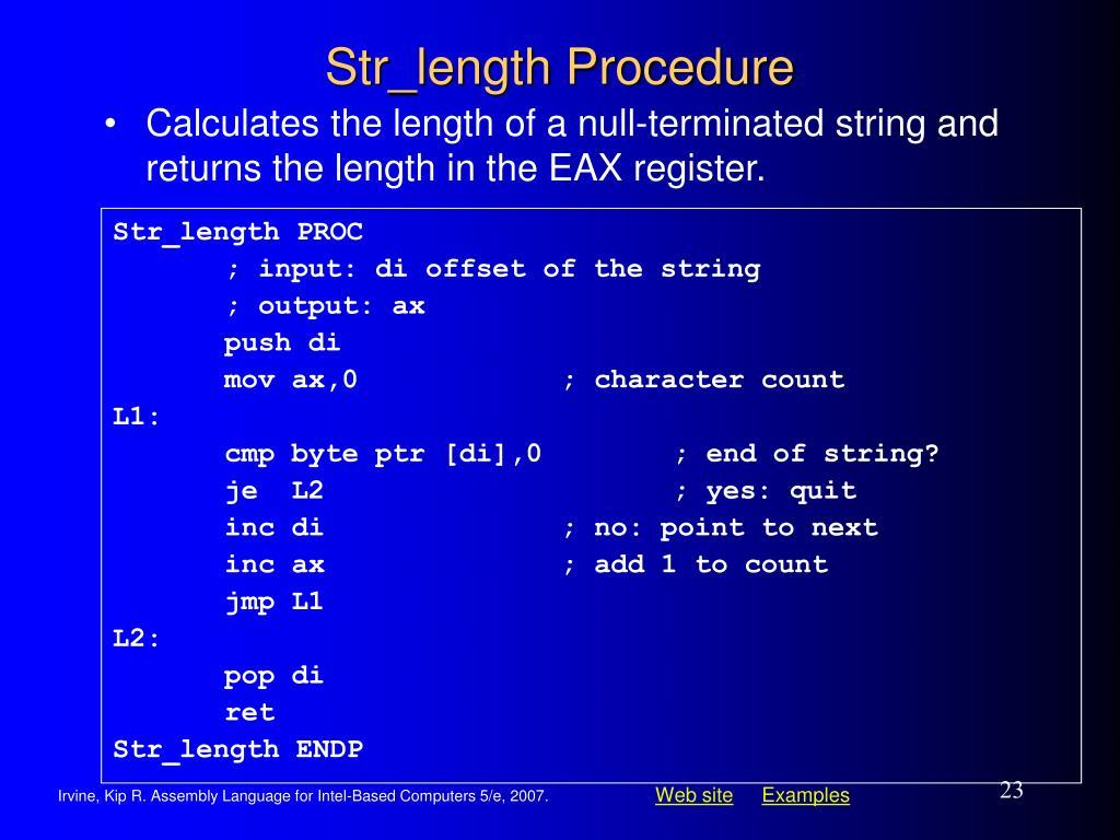 Str_length Procedure
