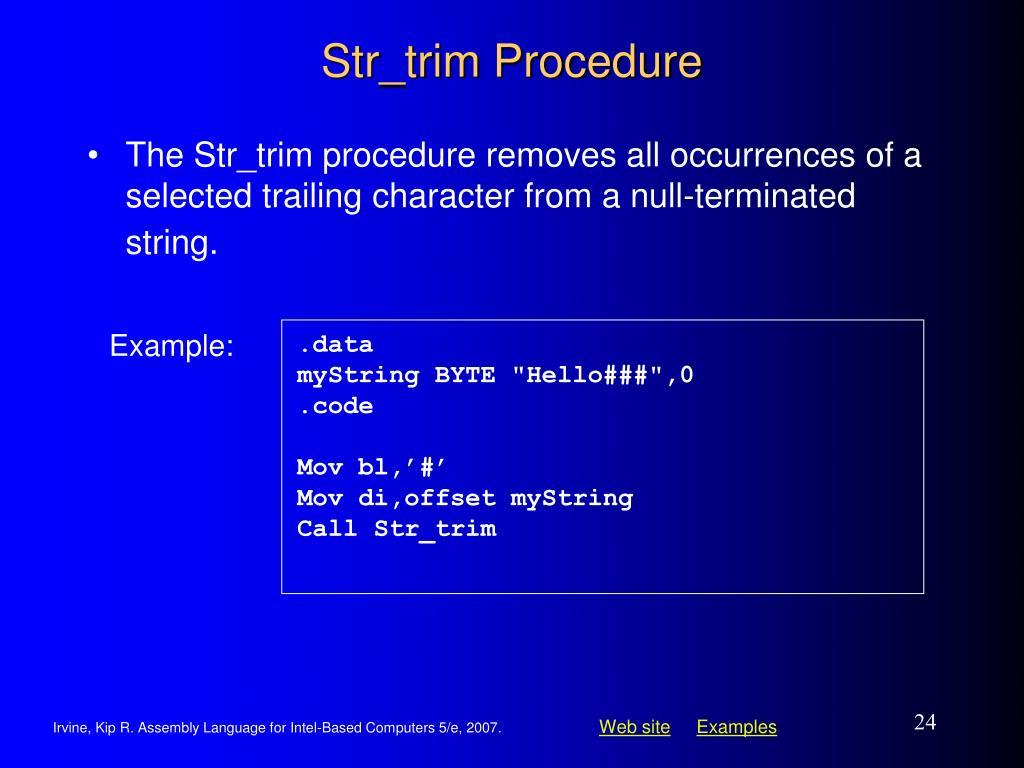 Str_trim Procedure