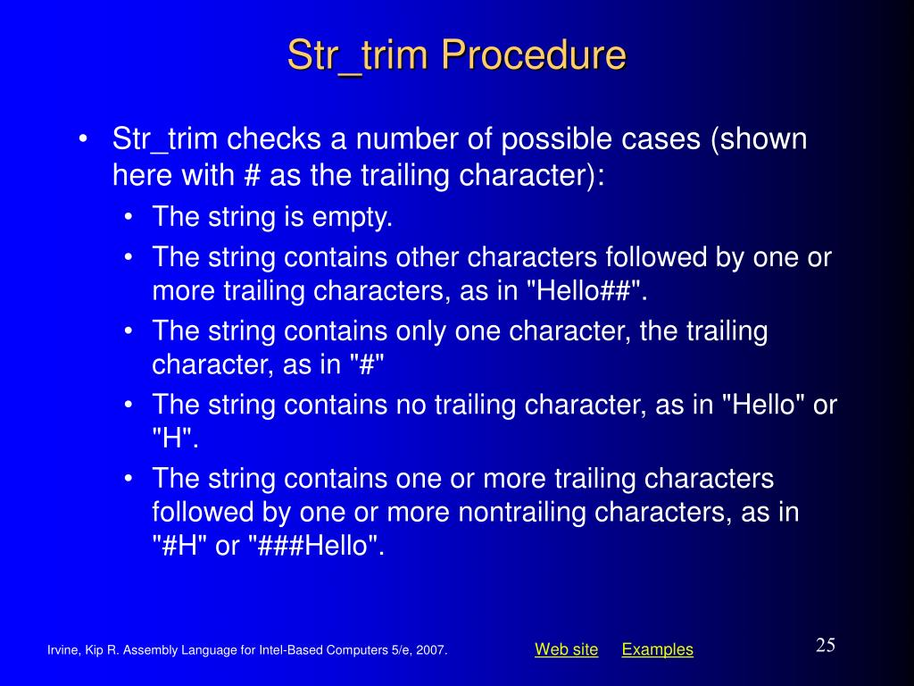 Str_trim Procedure