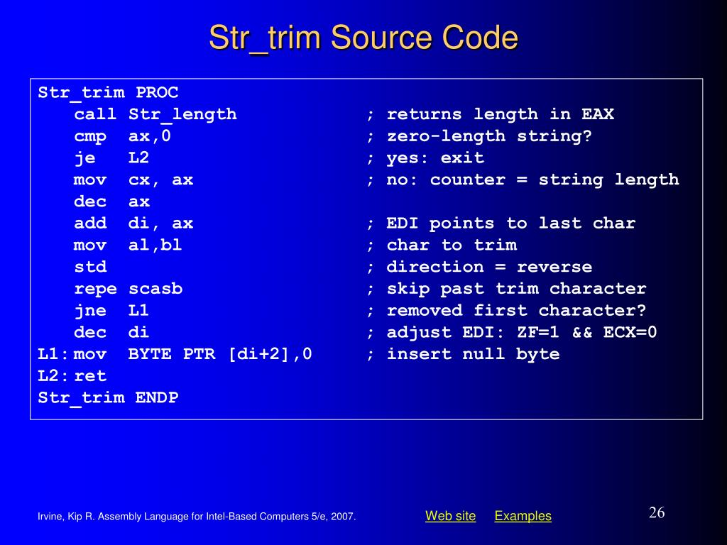 Str_trim Source Code
