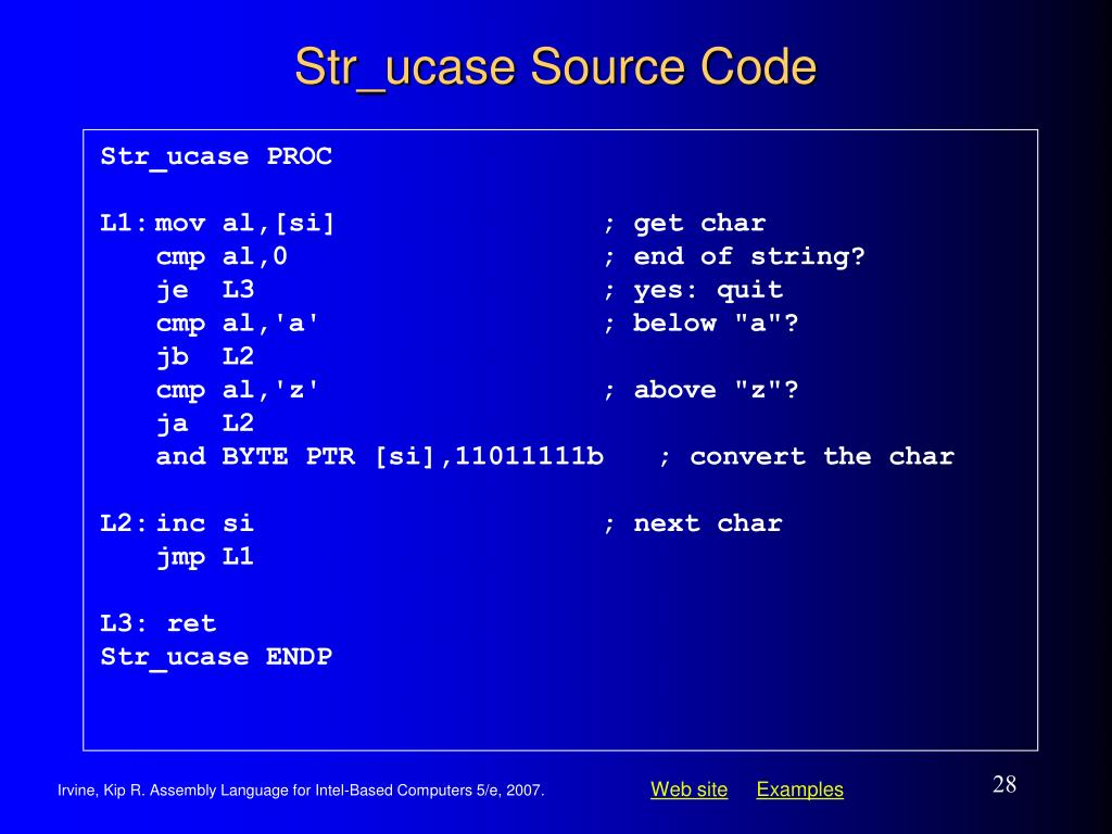 Str_ucase Source Code
