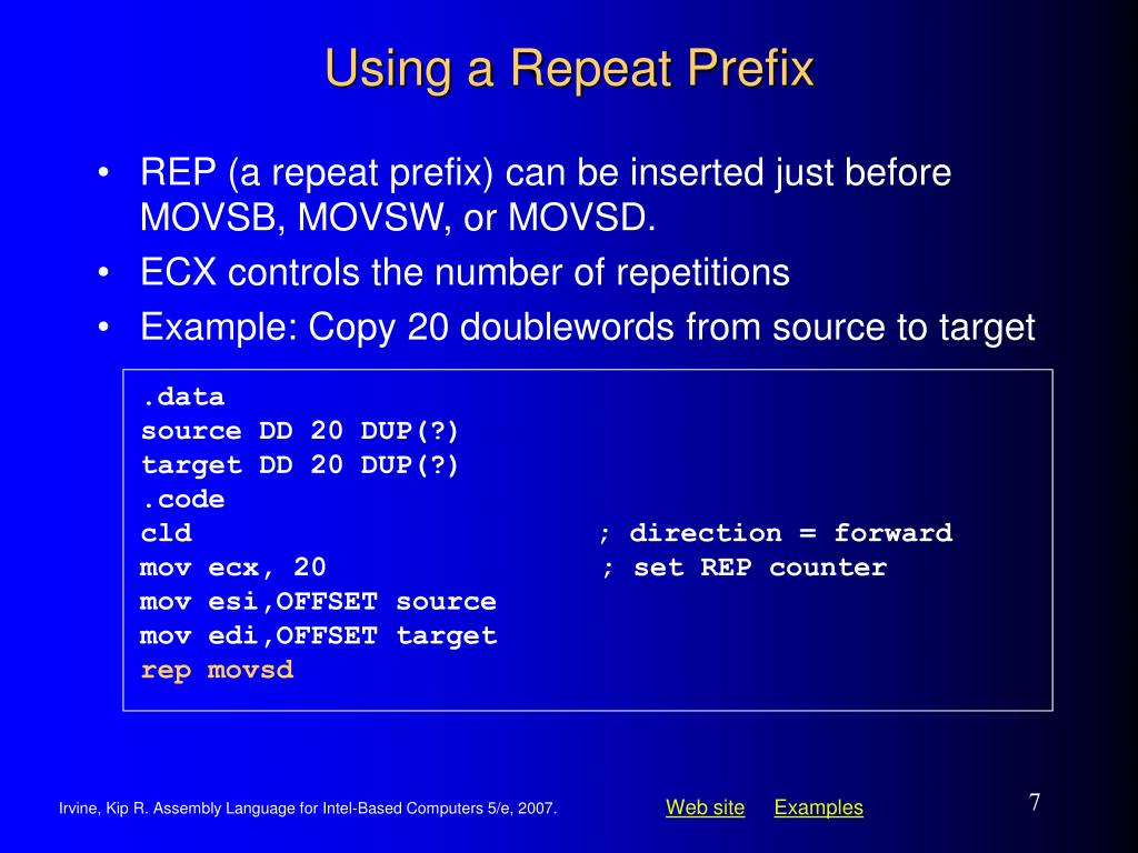 Using a Repeat Prefix