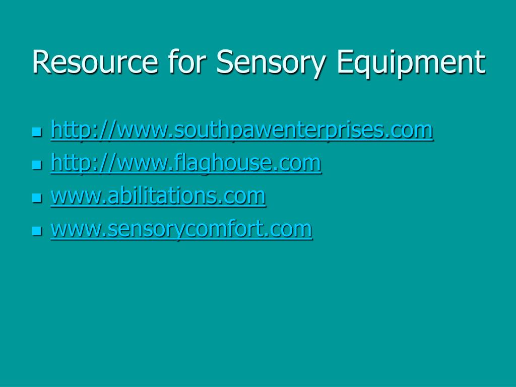 Resource for Sensory Equipment