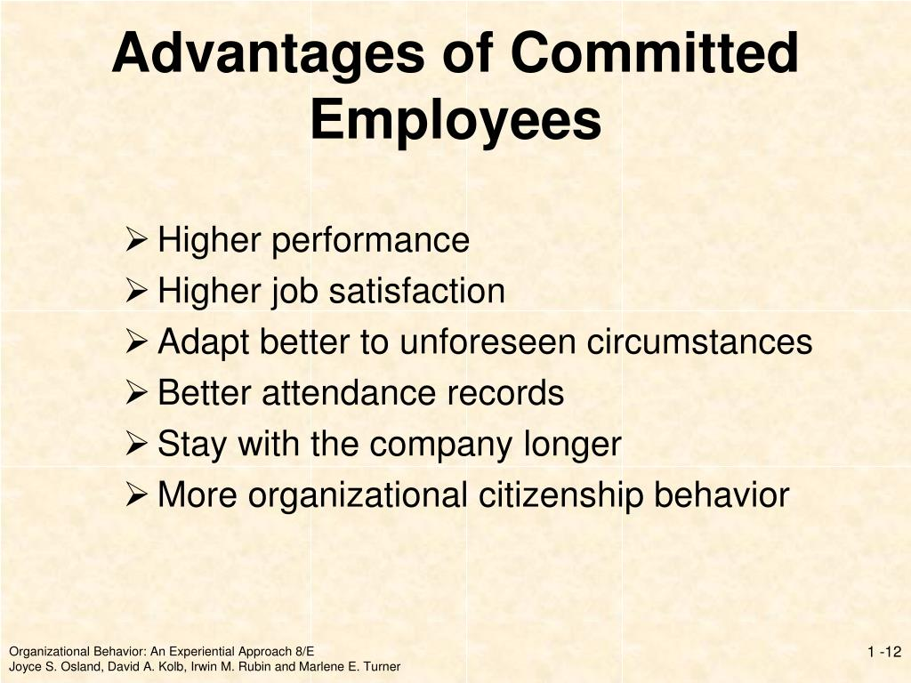 Advantages of Committed Employees