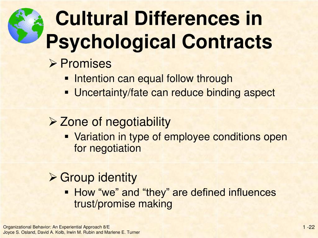 Cultural Differences in Psychological Contracts