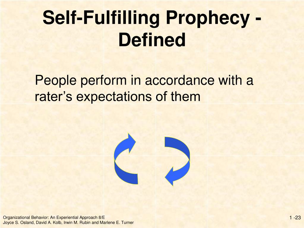 People perform in accordance with a rater's expectations of them