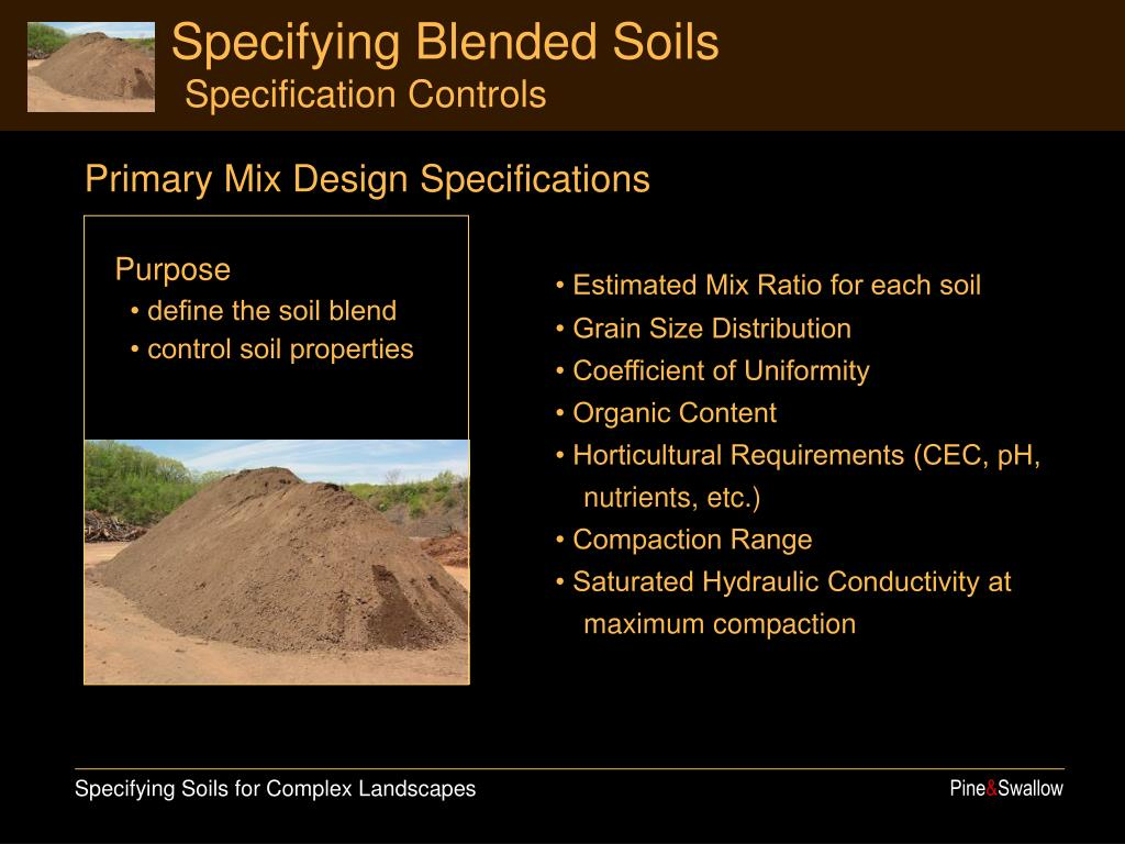 Specifying Blended Soils