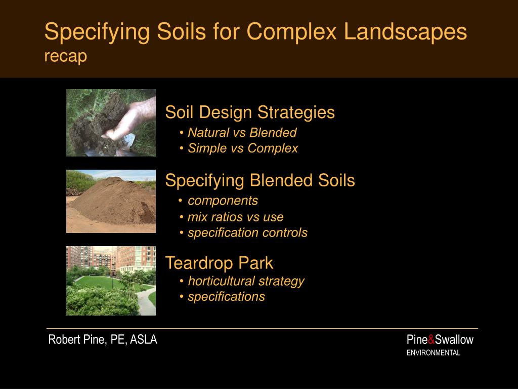 Specifying Soils for Complex Landscapes