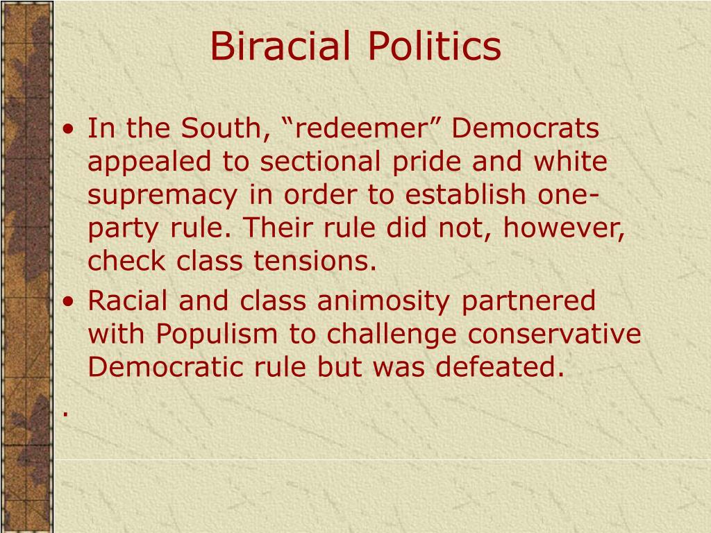 Biracial Politics