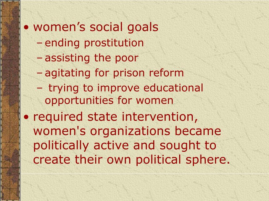 women's social goals