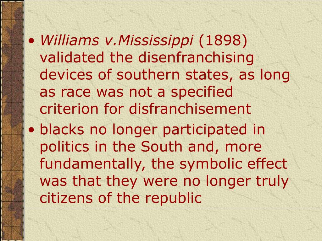 Williams v.Mississippi