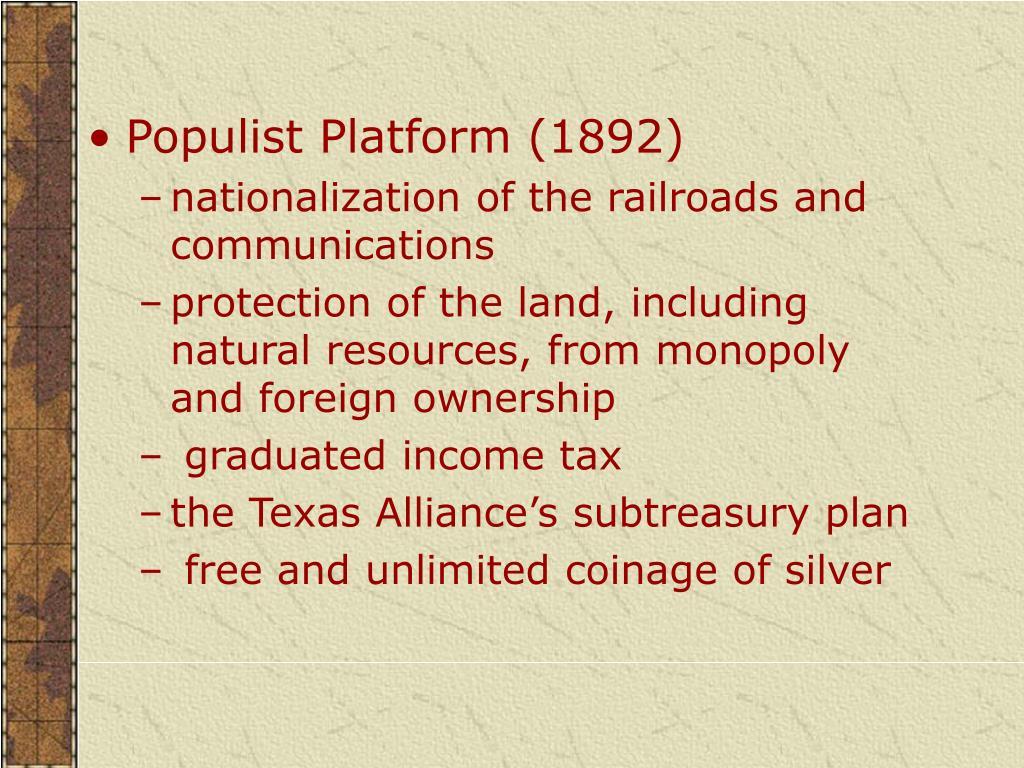 Populist Platform (1892)