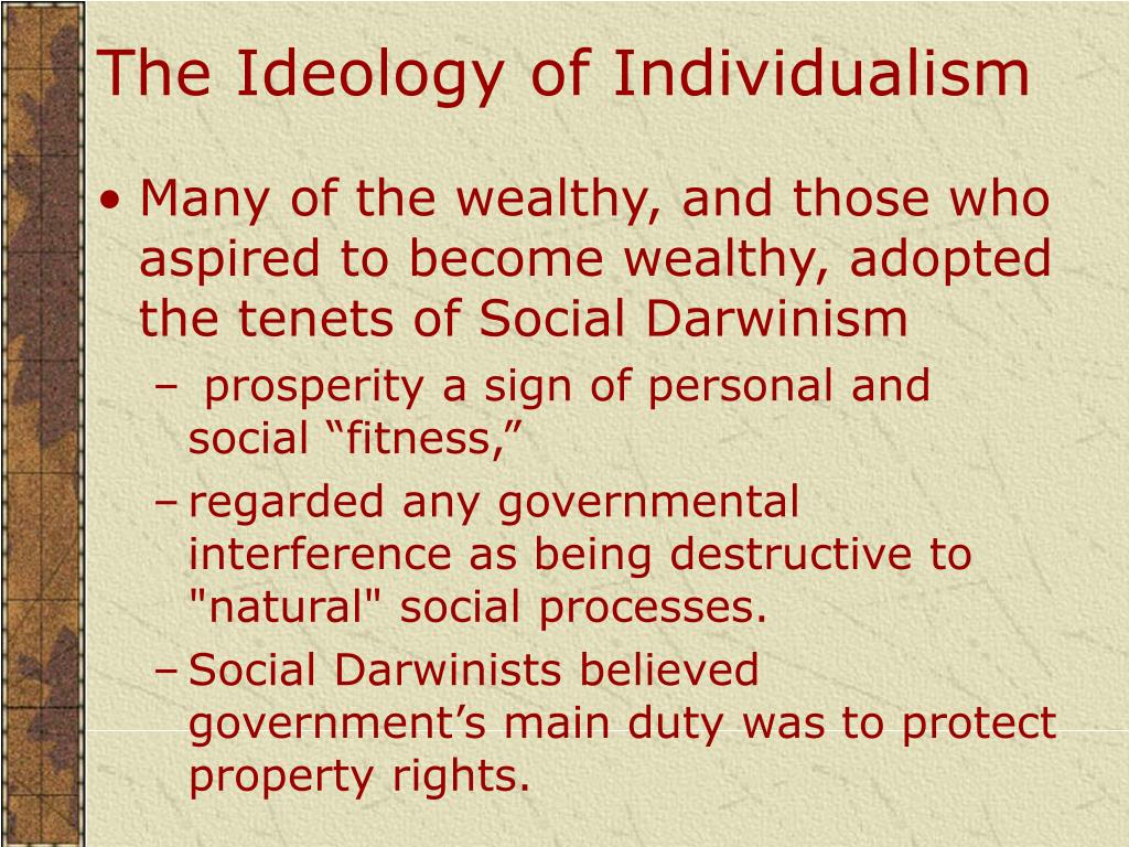 The Ideology of Individualism
