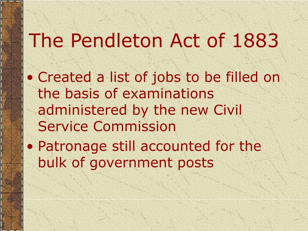 The Pendleton Act of 1883