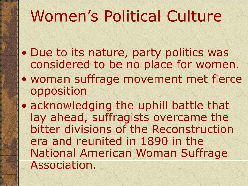 Women's Political Culture