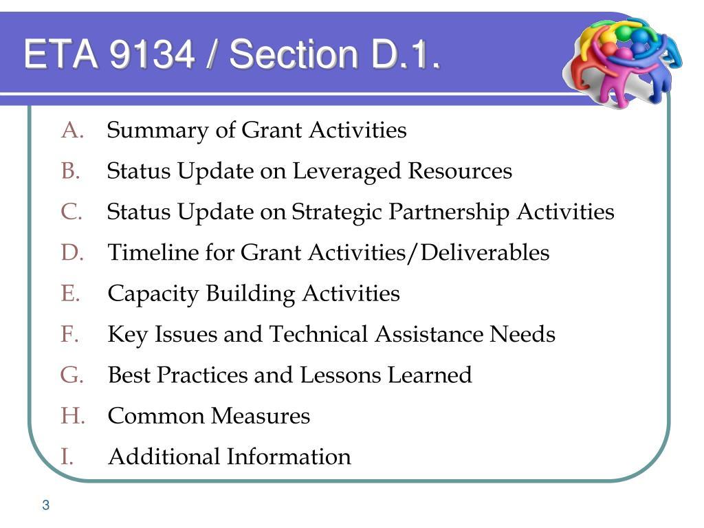 ETA 9134 / Section D.1.