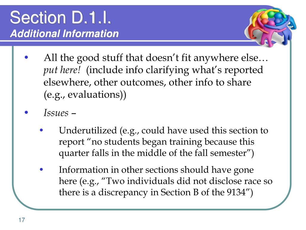 Section D.1.I.