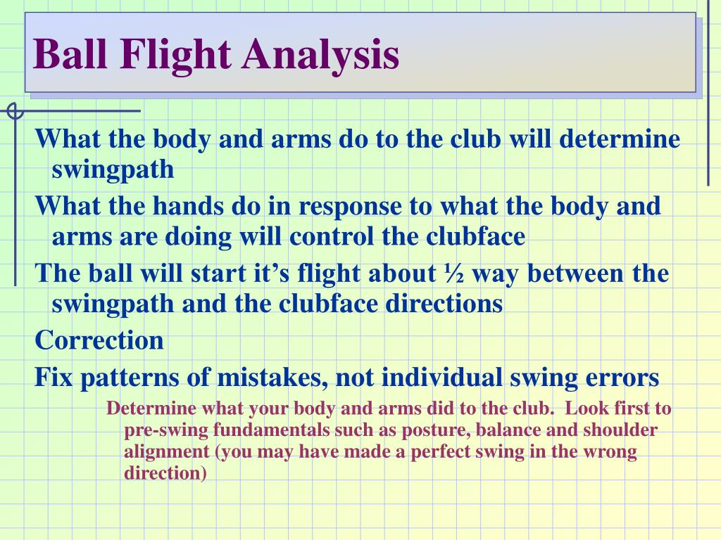 Ball Flight Analysis
