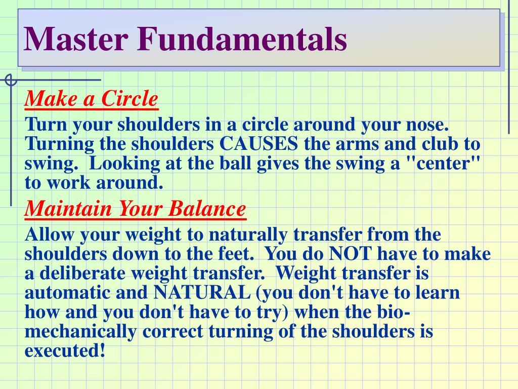 Master Fundamentals