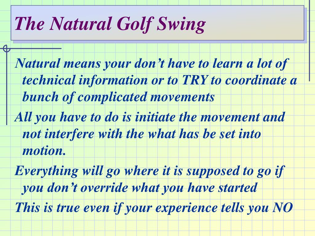 The Natural Golf Swing