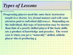types of lessons6