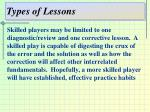 types of lessons7