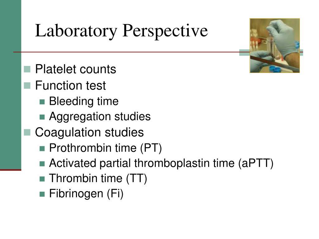 Laboratory Perspective