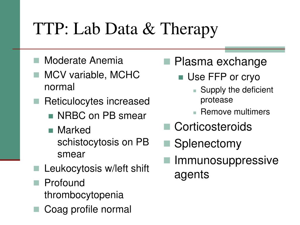 TTP: Lab Data & Therapy