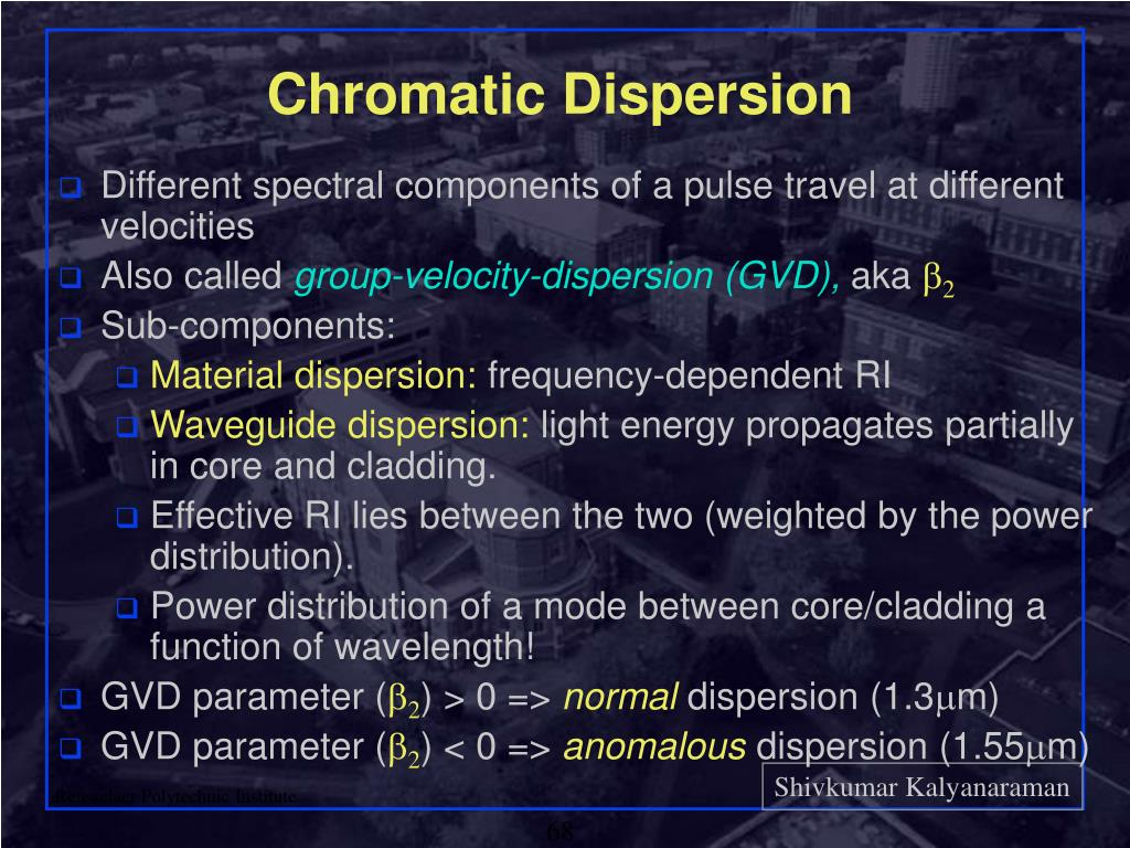 Chromatic Dispersion