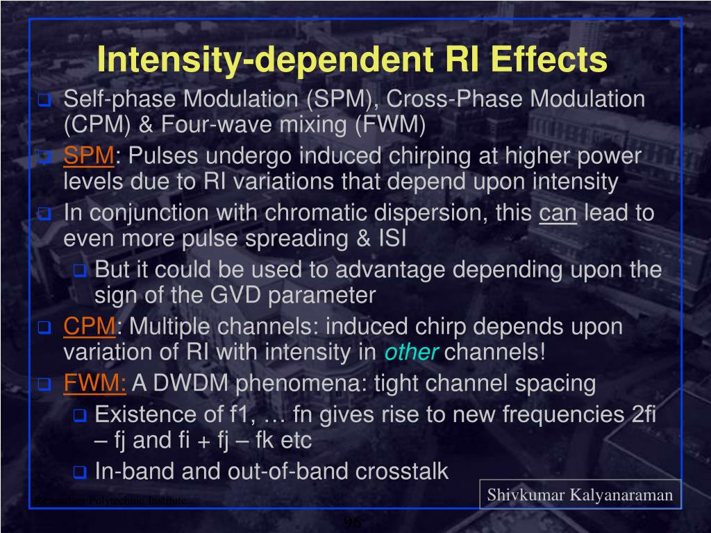 Intensity-dependent RI Effects
