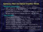 summary fiber and optical amplifier trends
