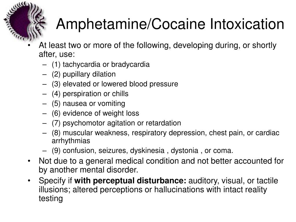 Amphetamine/Cocaine Intoxication