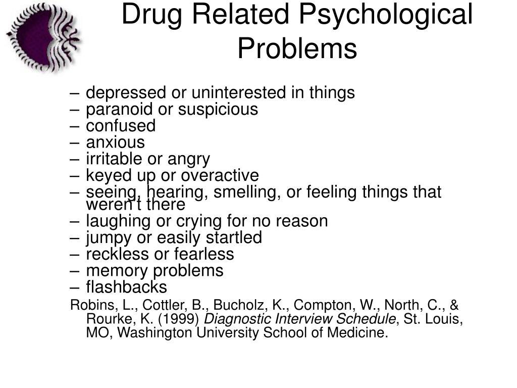 Drug Related Psychological Problems