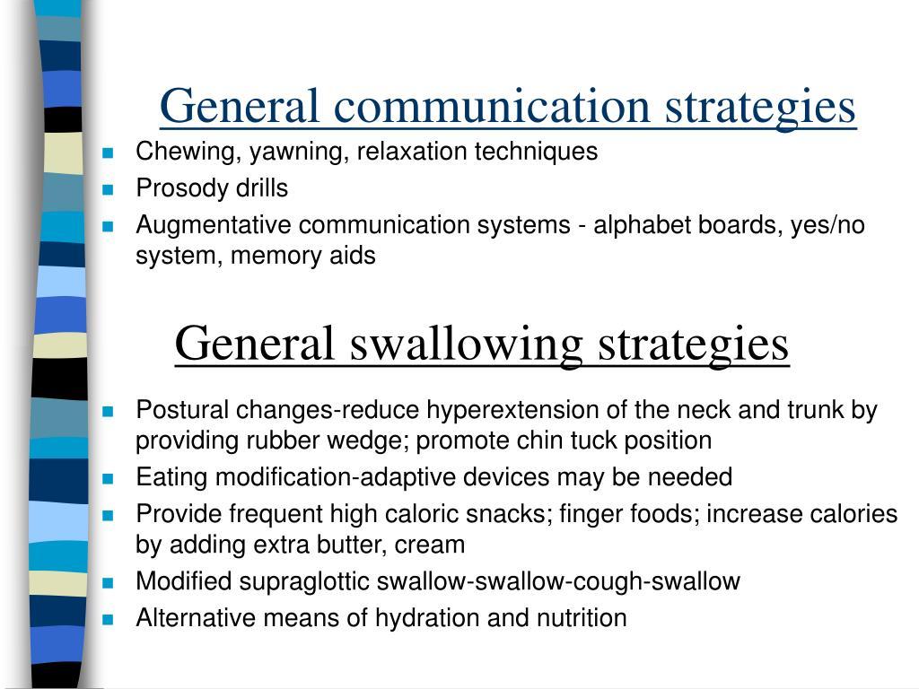 General communication strategies