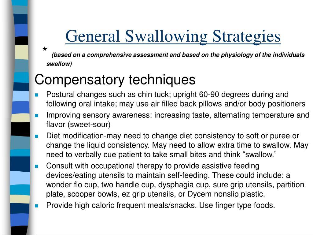 General Swallowing Strategies