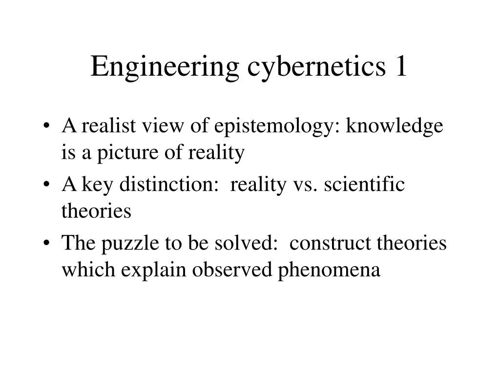 Engineering cybernetics 1