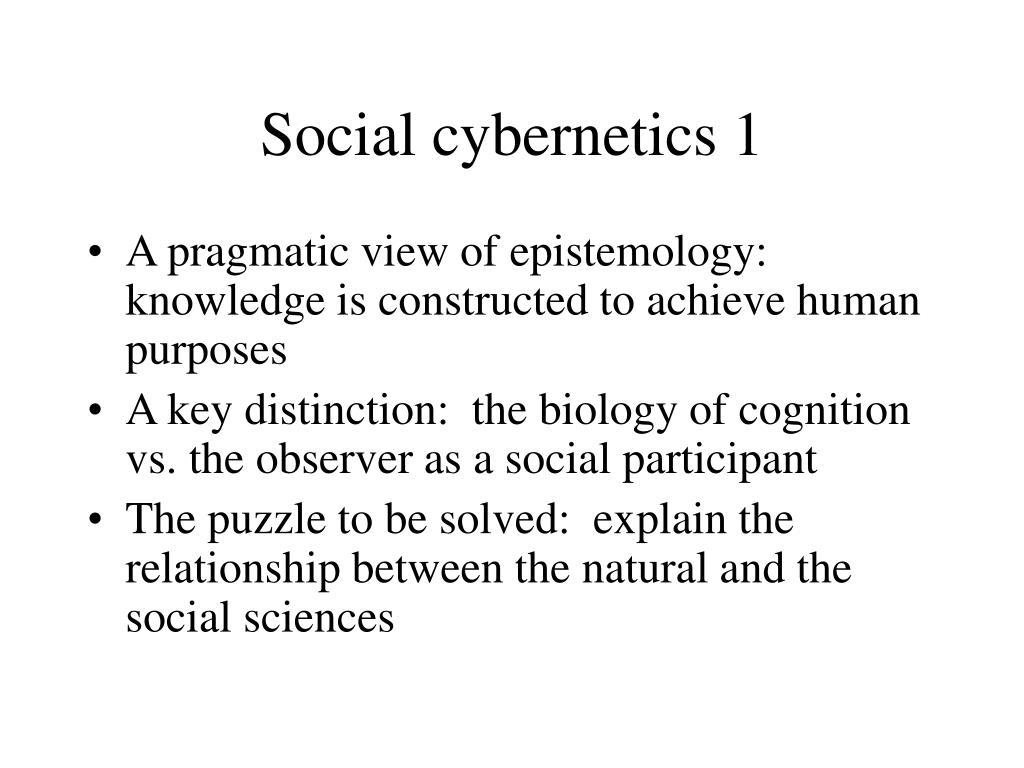 Social cybernetics 1